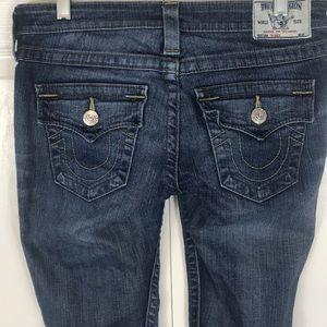 True Religion Blue Skinny Straight Leg Jeans
